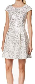 Calvin Klein Women's Bonded Lace Sequined Dress