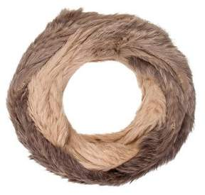 Yves Salomon Knitted Fur Infinity Scarf