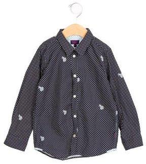 Paul Smith Boys' Printed Button-Up Shirt
