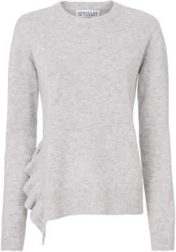 Derek Lam 10 Crosby Ruffle Detail Asymmetrical Hem Sweater
