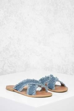 Forever 21 Crisscross Denim Sandals