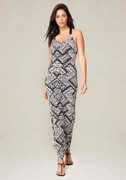 Bebe Logo Print Maxi Dress