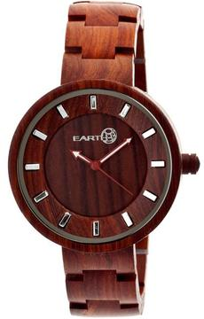 Earth Branch Collection ETHEW2803 Unisex Wood Watch with Wood Bracelet-Style Band
