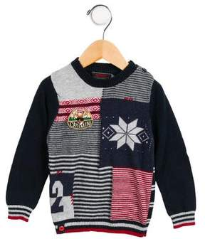 Catimini Boys' Embroidered Striped Sweater