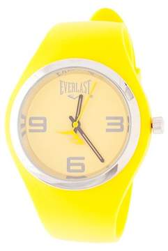 Everlast Soft Touch Rubber Strap and Case with Metal Bezel Watch - Yellow