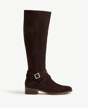 Ann Taylor Amy Suede Buckle Boots