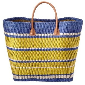 Vineyard Vines Striped Straw Canvas Tote.