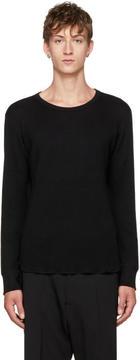Attachment Black Wool Waffle Crewneck