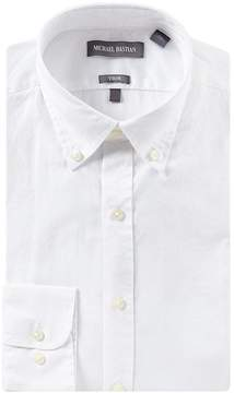 Michael Bastian Stretch Trim Fit Button-Down Collar Solid Dress Shirt
