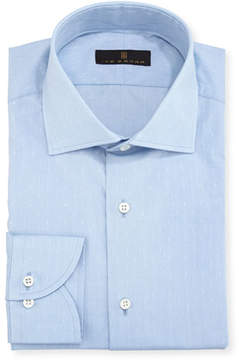 Ike Behar Gold Label Dobby Cotton Dress Shirt, Blue