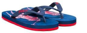 Ralph Lauren logo detail flip-flops