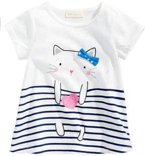 First Impressions Cat-Print Cotton T-Shirt, Baby Girls (0-24 months), Created for Macy's