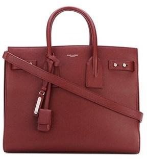 Saint Laurent Women's Burgundy Leather Handbag. - RED - STYLE