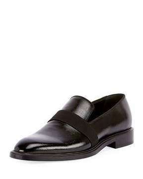Givenchy Rider Patent Formal Loafer with Grosgrain Trim, Black