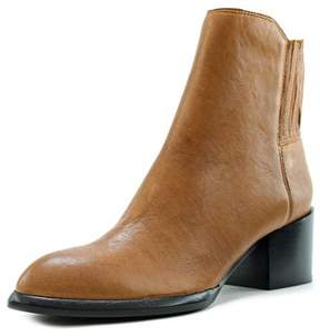Calvin Klein Jeans Nenita Pullup Women Round Toe Leather Ankle Boot.