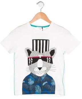 Little Marc Jacobs Boys' Graphic Print Short Sleeve Shirt w/ Tags