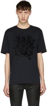 Pierre Balmain Navy Crown Logo T-Shirt