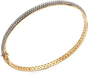 Artisan Women's Oval shape Diamond Openable Bangle
