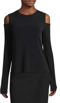 Donna Karan Cold Shoulder Top