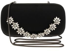 Badgley Mischka Amelia Floral Embellished Clutch