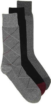 Cole Haan Diamond Grid Dress Socks - 3 Pack - Men's