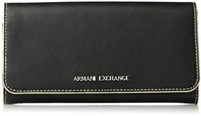 Armani Exchange A X Solid Continental Wallet