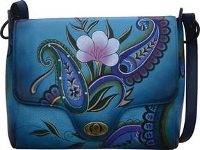 Anuschka Anna By Hand Painted Leather Flap Messenger 8357 (Women's)