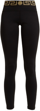 VERSACE Logo-print performance leggings