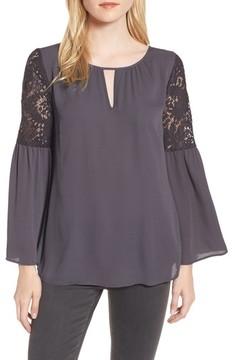 Chelsea28 Women's Lace Bell Sleeve Top