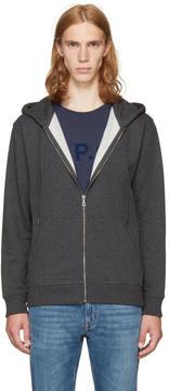 A.P.C. Grey Locker Zip Hoodie