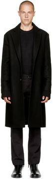 Maison Margiela Black Heavy Wool Coat