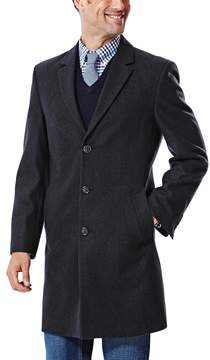 Ike Behar Big & Tall Modern-Fit Wool-Blend Top Coat