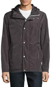 Cole Haan Solid Long-Sleeve Rain Jacket