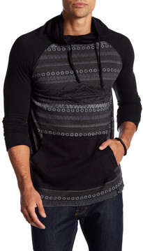 Burnside Funnel Neck Desert Print Sweatshirt