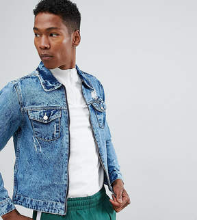 Co Brooklyn Supply Brooklyn Supply Bleached Denim Jacket With Zip
