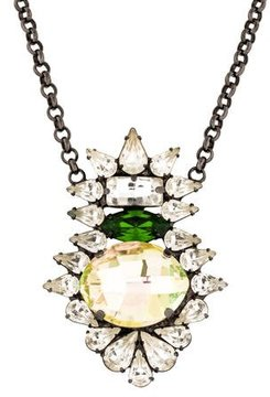 Dannijo Crystal Embellished Pendant Necklace