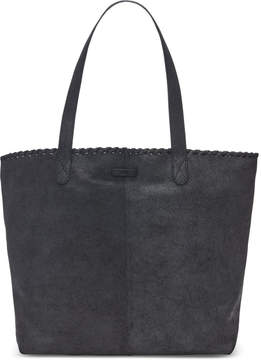 Toms Black Distress Leather Cosmopolitan Tote