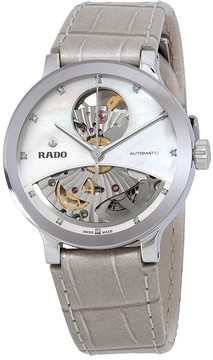 Rado Centrix Mother of Pearl Dial Automatic Ladies Leather Watch