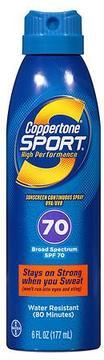 Coppertone Sport High Performance AccuSpray Sunscreen, SPF 70