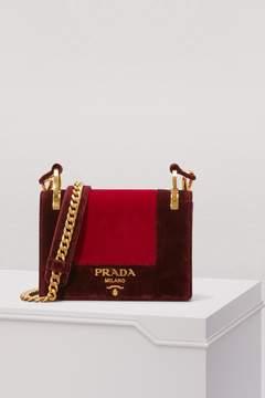 Prada Patina velvet bicolor shoulder bag