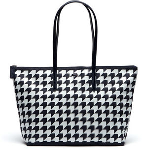 Lacoste Women's Concept Houndstooth Horizontal Zip Tote Bag