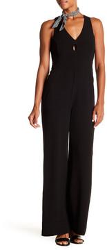 WAYF Sutton Keyhole Wide Leg Jumpsuit