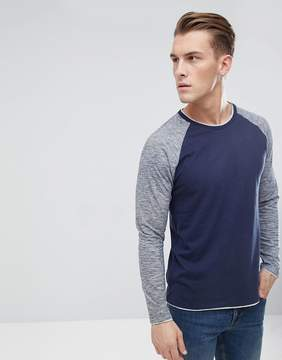 Esprit Long Sleeve T-Shirt With Contrast Sleeves