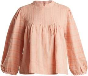 Ace&Jig Mallorca Parfait geometric-jacquard cotton top
