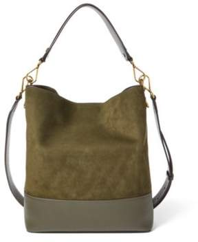 Ralph Lauren Nubuck Leather Hobo Bag Loden One Size