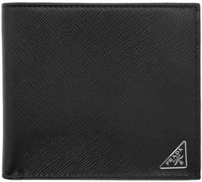 Prada Black Triangle Logo Wallet