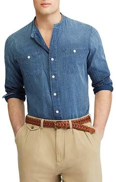 Polo Ralph Lauren Dotted Band Collar Classic Fit Button-Down Shirt