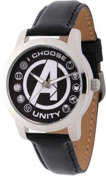 Marvel Classic Mens Black Strap Watch-Wma000055
