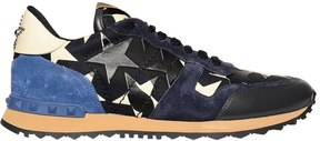 Valentino Rockrunner Camustars Leather Sneakers
