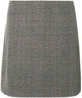Dorothy Perkins Grey Checked Print Mini Skirt